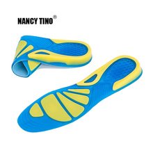 NANCY TINO Men & Women Gel Insoles Shoe Inserts for Running Hiking  Best Full Length Absorb Shock Silicone Shoes Pad