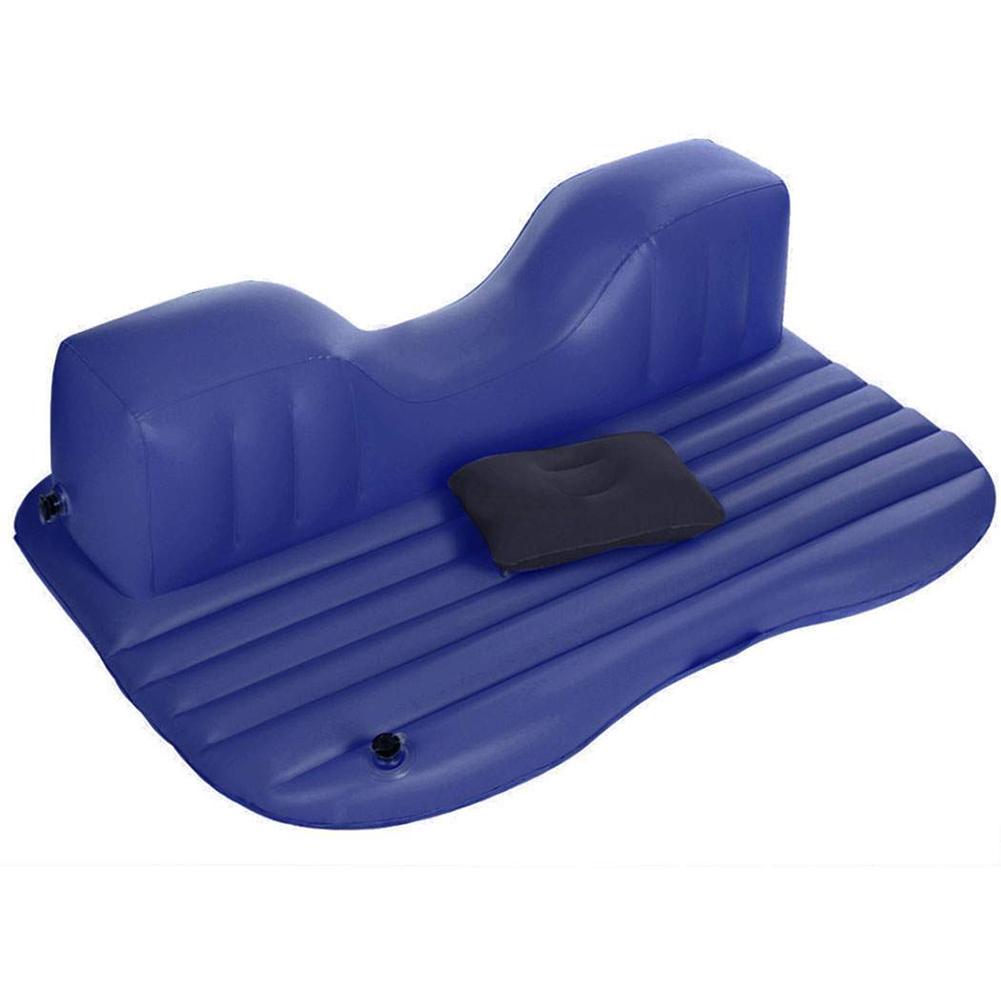 New Sale Inflatable Travel Camping Car Seat Sleep Rest <font><b>Mattress</b></font> Air Bed with Pillow/Pump