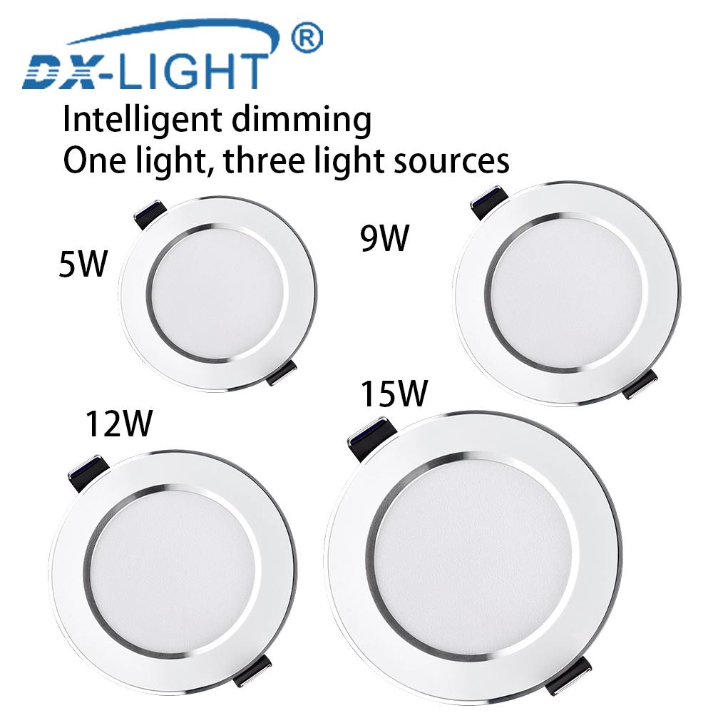 Ultrathin Silver LED Downlight Ceiling lamp 5W 9W 12W 15W Warm white Natural white Cold white 3 Color Led Down light AC 220~240VUltrathin Silver LED Downlight Ceiling lamp 5W 9W 12W 15W Warm white Natural white Cold white 3 Color Led Down light AC 220~240V