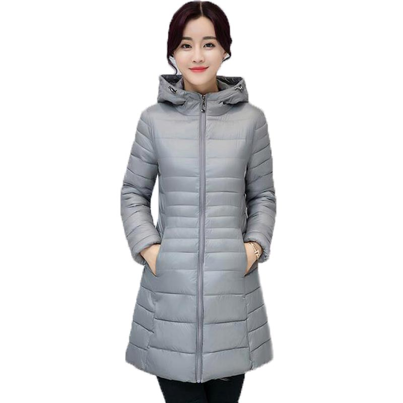 New Autumn Winter Coat Women Slim Fashion Jacket Cotton Wadded Parka Female Jacket Hooded Medium Long Outerwear Coats PW0988 muxu new autumn winter coat women basic jacket coat female slim hooded cotton coats casual silver long sleeve ladies jackets