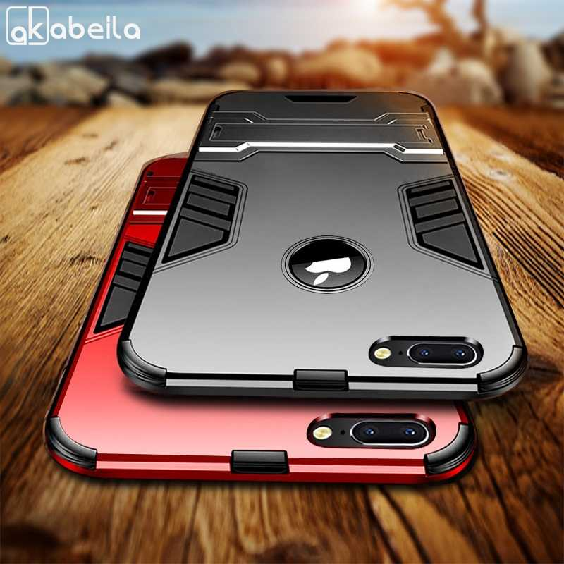 Shockproof Armor Phone Case For Apple iphone X XS Max XR 8 7 Plus TPU Protective Hard Cover For iphone 6 6s Plus 5 5s 5C Coque