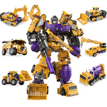 New Children's Toy Deformation Engineering Car Booming King Kong Series Robot Model Six-in-one Suit Children's Health Toys one robot