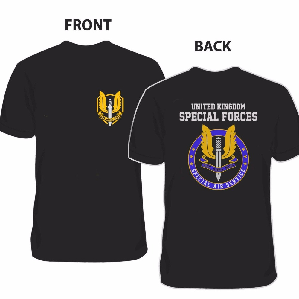 Design your own t-shirt front and back - Fashion Print T Shirt Plus Size New Special Air Service Sas United Kingdom Personalized T