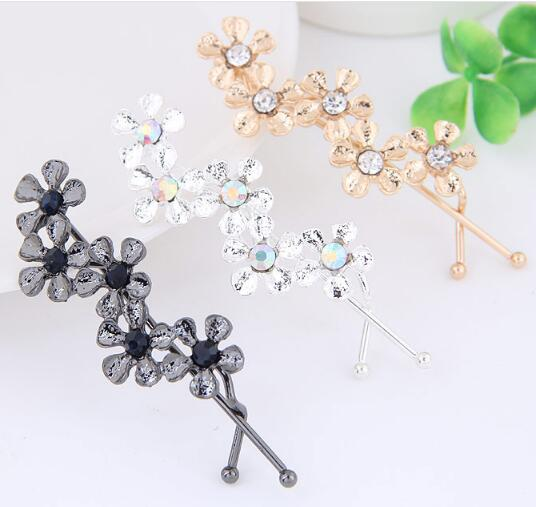 Free shipping metal Flower Hair Clip Hair Pins Girls Lovely Hair Accessary for women Wholesale hair accessories ...