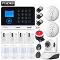 FUERS WG11 wifi GSM беспроводная домашняя бизнес охранная сигнализация Система управления приложением сирена RFID детектор движения на основе пасси...
