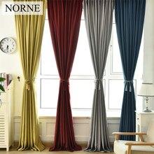 NORNE Solid Color Faux Linen Room Darkening Curtains for Living  Bedroom Window Curtain kitchen Blinds Drapes Back Velvet