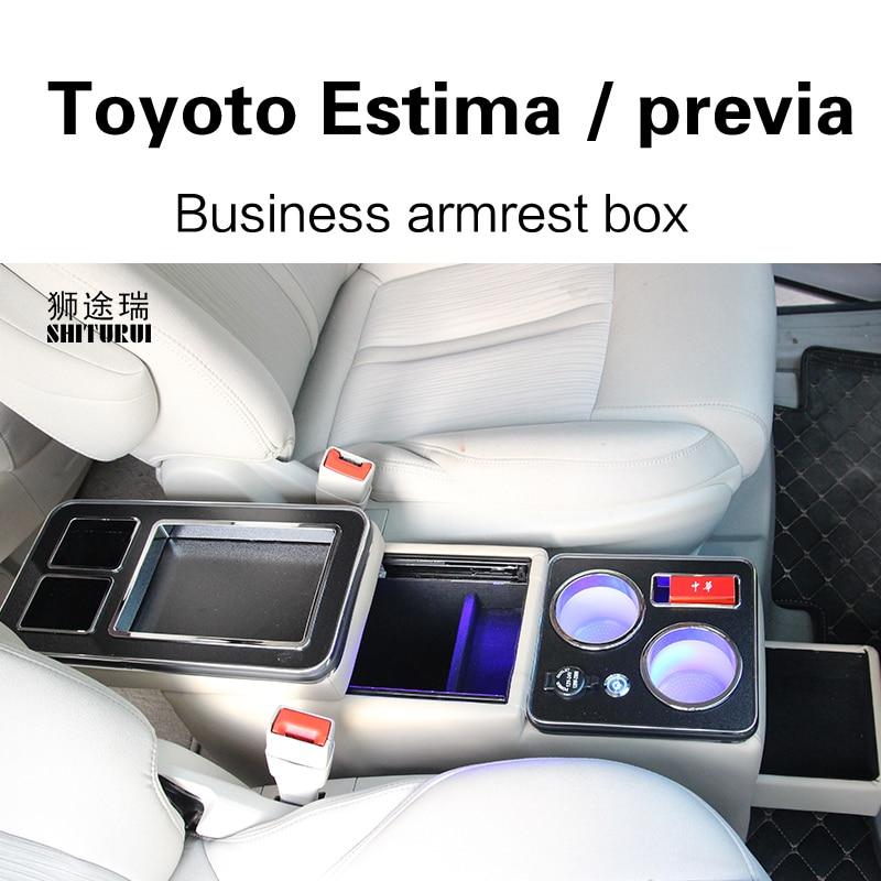 Pour Toyota Estima previa 2005 + rangée ensemble de boîte de garde-corps avant accoudoir d'affaires général magasin central voiture d'affaires charge Mobile