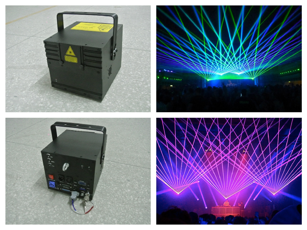 Laser 1W RGB Animation Laser Show System Analog Modulation 20Kpps scanner ILDA Control laser stage light event wedding party laser head owx8060 owy8075 onp8170