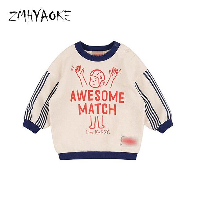 62317a23bd900 ZMHYAOKE 2018 Automne t-shirt pour enfants bébé Filles Marque Shirts vêtements  pour garçons Graffiti