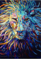 Unframed 1 pcs High Quality Cheap Art Pictures animals king lion Modern Home Wall Decor Abstract Canvas Painted Oil Painting