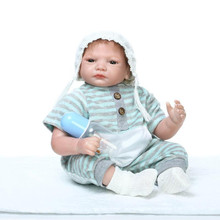 High Quality 50-55 cm Real Looking Silicone Reborn Baby Boy Dolls Safe Baby Reborn Handmade Realistic Doll Reborn For Child Gift