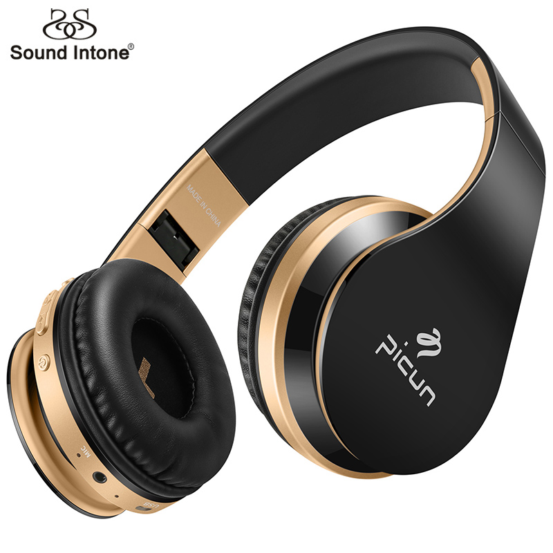 Sound Intone P16 Bluetooth Headphone with Mic Soft Wirelesss Headsets Support Radio TF Card Headphones For Mobile Phone PC MP3 sound intone p30 wireless headphones with mic support tf card bluetooth headphone over ear headsets for xiaomi for iphone pc