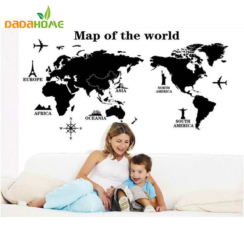Free shipping travel world map removable decals art home decoration free shipping travel world map removable decals art home decoration tv backdrop wallpaper wall stickers wall art decals vinyl in wall stickers from home gumiabroncs Gallery