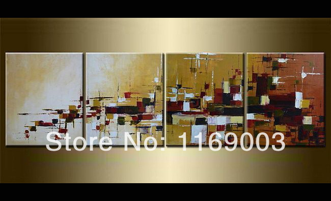 Abstract 4 piece canvas wall art decorative modern font b Knife b font paint famous oil