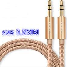 Высококачественный 35 мм Автомобильный aux mp3 плеер кабель