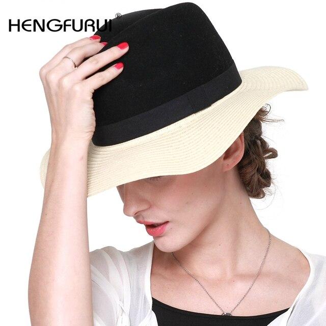 2016 Новый Корейский летом Соломы Вс шляпы для женщин девочек небольшой подарок моды Британский вс hat плоским Пляж Шляпа Женщина C2005