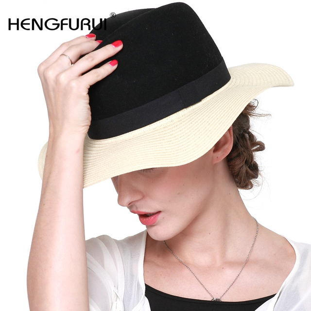 f2702b10231e37 2016 New Korean summer Straw Sun hats for women girls small gift fashion  British sun hat