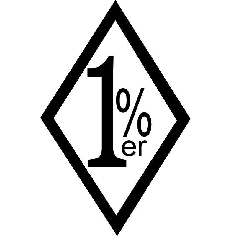 9,6x15 см 1% ER один процент Outlaw Байкерская забавная виниловая наклейка на автомобиль Стайлинг автомобиля аксессуары S8-0832