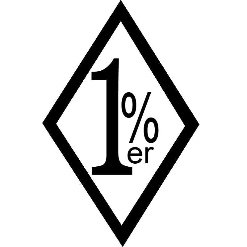 9.6x15CM 1%ER One Percent Outlaw Biker Funny Vinyl Decal