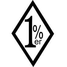 9,6x15 см 1% ER однопроцентная забавная виниловая наклейка Outlaw Biker, автомобильная наклейка, аксессуары для стайлинга автомобиля