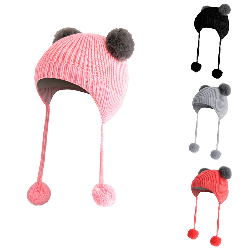 Children Baggy Warm Crochet Winter Wool Knit Ski Beanie Skull Slouchy Caps Hat Slouchy Caps Childrens Hats Boys' Baby Clothing