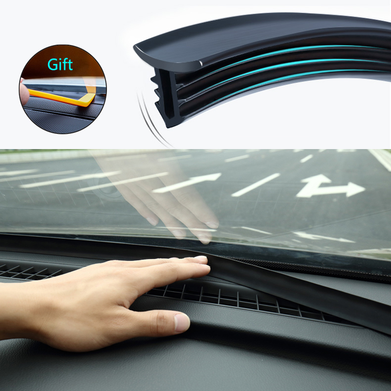 1.6m Car Dashboard Sealing Strips Styling Sticker For Chevrolet Cruze OPEL MOKKA ASTRA J Hyundai Solaris Accent image