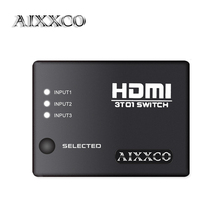 AIXXCO HDMI Port 3 Port HDMI Splitter HDMI Switch Switcher 1080P Vedio For HDTV PS3 DVD Supports 3D