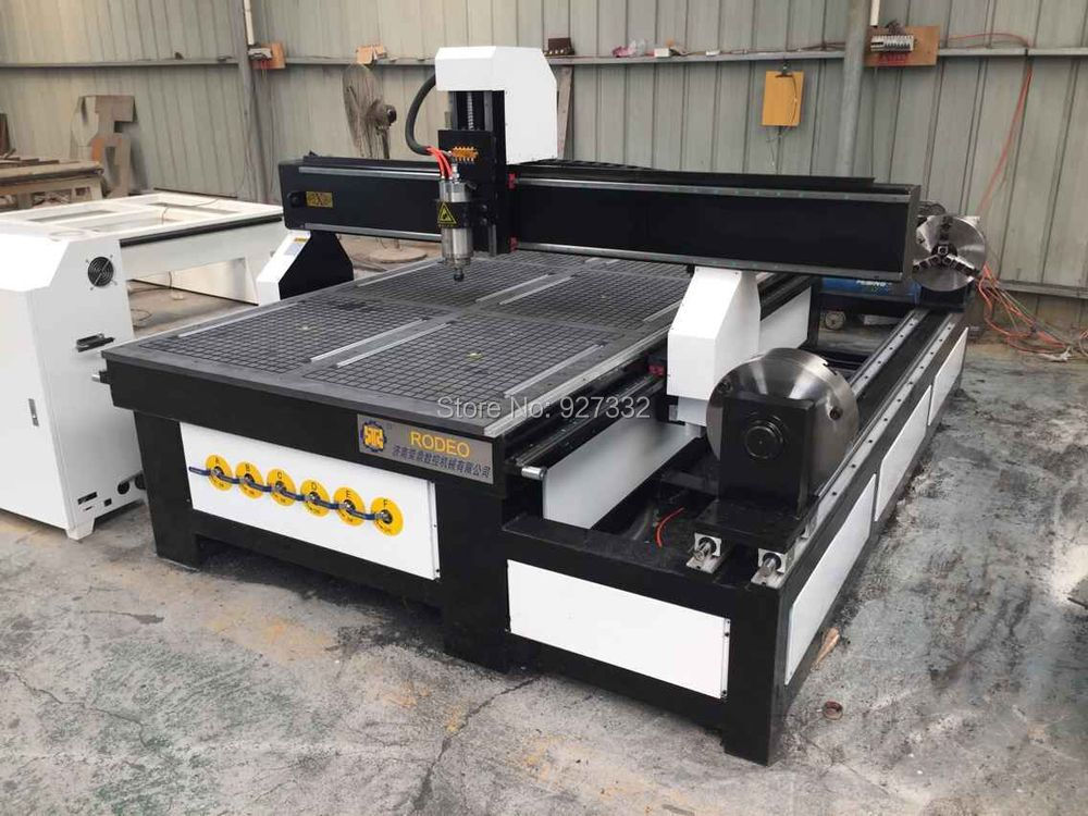 China Jinan 4 Axis 3D Wood CNC Router 1325 1530/CNC Milling machine for wood arcylic stone