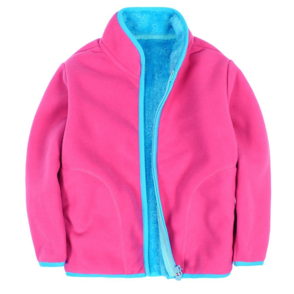 New 2017 children polar fleece cardigan sweatshirt children hoodies kids jacket&Coats baby boys girls Coral velvet sweatshirt