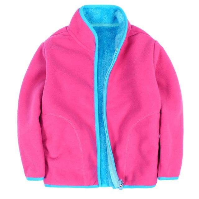 Novo 2016 crianças polar fleece cardigan camisola hoodies crianças crianças jacket & Coats camisola das meninas dos meninos do bebê de veludo Coral