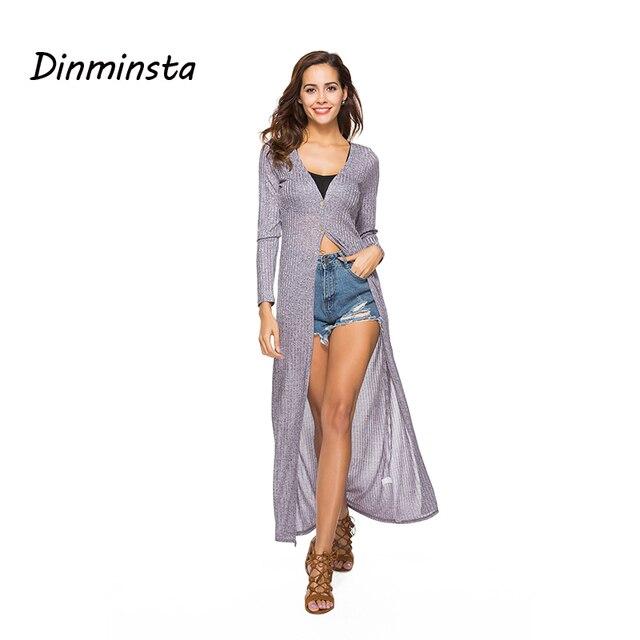 21866589f42d0 US $20.62 38% OFF|Dinminsta Fashion Cardigan Long Dress women Top Long  Sleeve Frocks Design Knit Dresses Female Casual Vintage High Street  Dresses-in ...