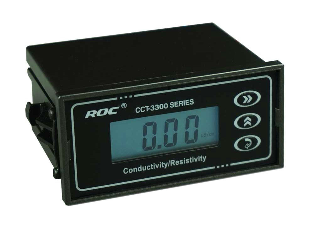 BRAND ROC Conductivity TDS Temperature Transmitter Controller Monitor METER DC 24V SPDT relays 4~20mA Analog signal real time conductivity transmitter industrial conductivity meter   - title=