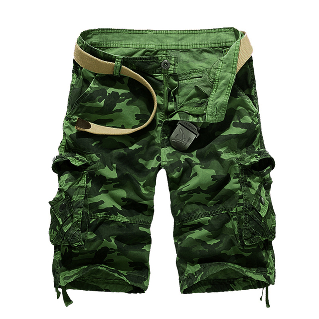 2018 New Camouflage Loose Cargo Shorts Men Cool Summer Military Camo Short Pants Hot Sale Homme Cargo Shorts No belt 3