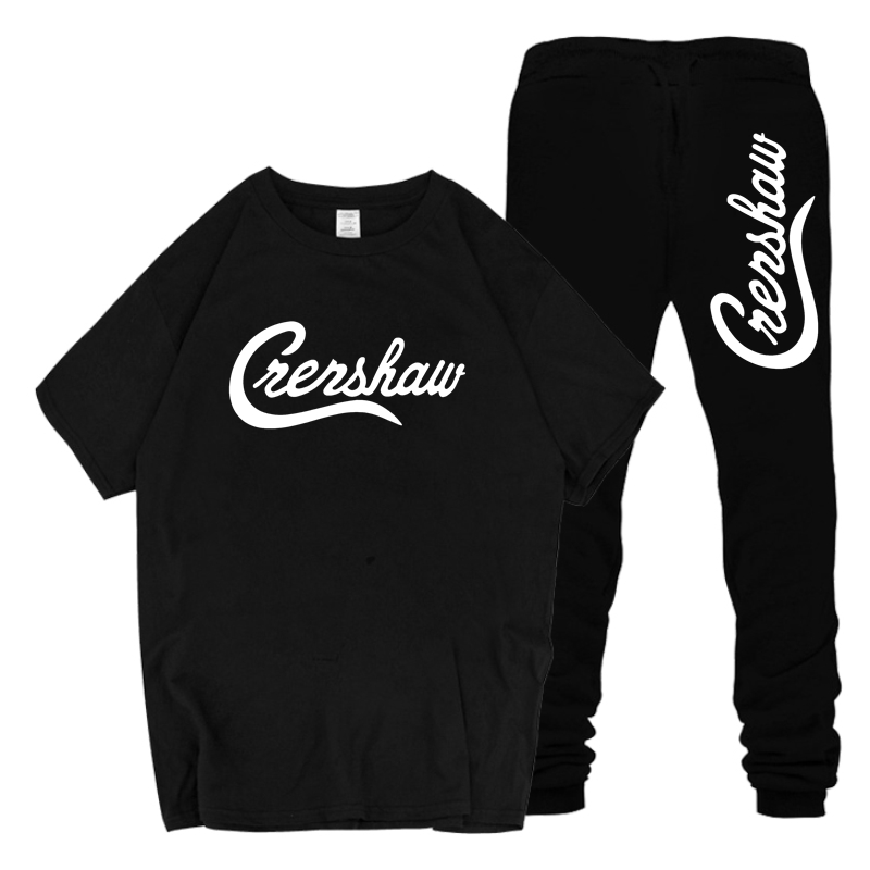 New Crenshaw Men's Sets T Shirts+Pants Two Pieces Sets Male Casual Tshirt 2019 Men Nipsey Hussle T-Shirt Sweatpants Sets