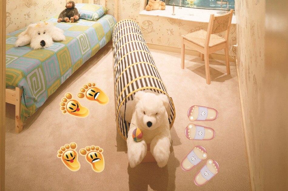 Aliexpress Nette Fsse Kinder Wohnzimmer Boden Wandaufkleber Lcheln Fuss Muster Cartoon Vinyl Ceremic Fliesen Aufkleber Tapete Bedroom 36 Von