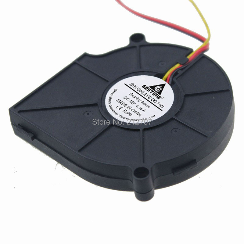 1 шт. Gdstime 3 Pin 12 в 75x75x15 мм 75 мм турбо вентилятор радиальный Вентилятор охлаждения постоянного тока