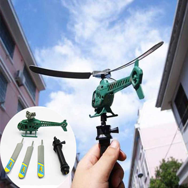 1pcs Newest Aviation Model Copter Handle Pull RC Helicopter Plane Outdoor Toys for Children Playing Drone Children's Day Gifts