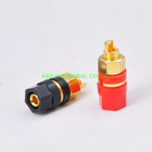 цена на 4pcs Combine Binding Post Terminal Banana Plug Jack Gold for Tube Amplifier Parts Red and Black