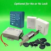 DIY Full Narrow Type Electric Strike Lock Door System Kit Fingerprint Access Control System + Power Supply + Door Bell