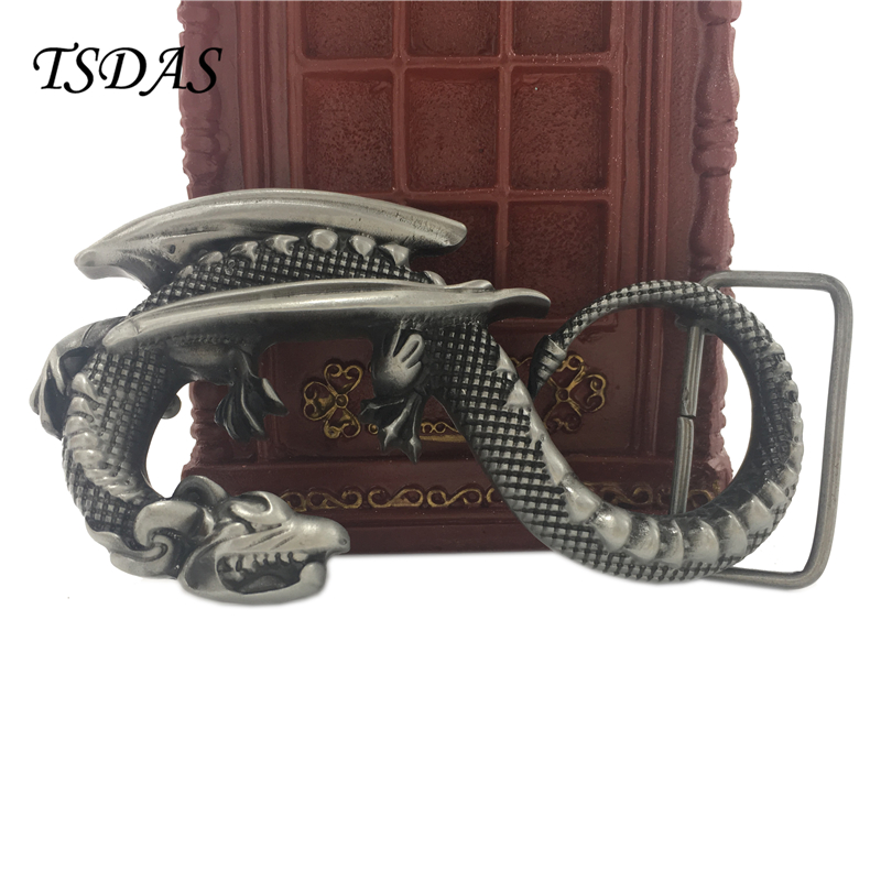 Zinc Alloy Belt Buckle Flying Dragon Belt Buckle For Cool Man Cool Punk Style Dragon Belt