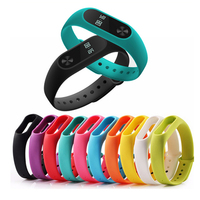Colorful Silicone Wrist Strap Bracelet 10 Color Replacement watchband for Original Miband 2 Xiaomi Mi band 2 Wristbands