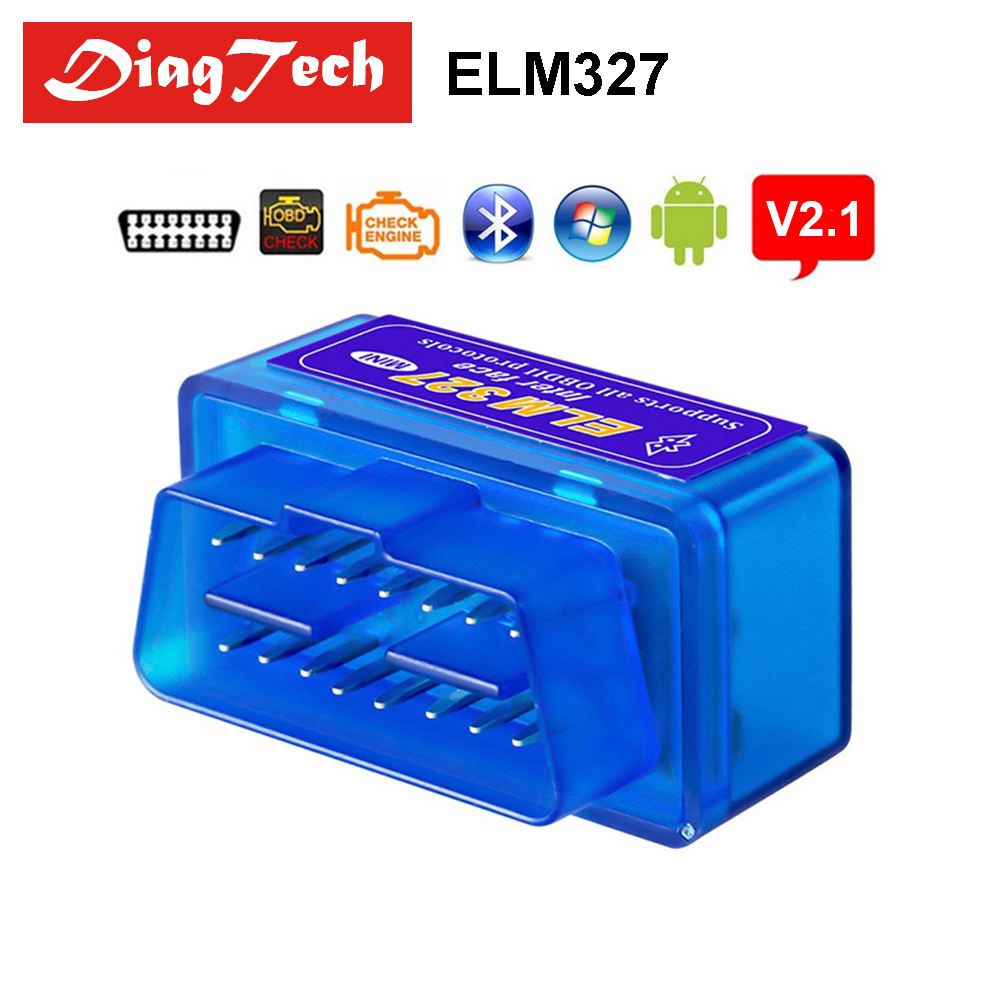 Best Quality ELM327 V2.1 Bluetooth OBD2 Diagnostic Tool For Android/Symbian Torque Super MINI ELM 327 2.1 For OBDII Protocols high quality scan tool elm327 bluetooth mini obd2 obdii car auto diagnostic torque android