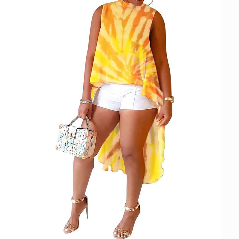 Yellow Boho Travel Beach Plus Size Elegant African Long Blouse Women Loose Stand Collar Print Chic Tops Female Fashion Shirts in Blouses amp Shirts from Women 39 s Clothing