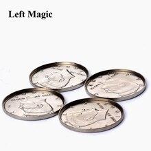 1 шт., расширенная оболочка, половина доллара(голова), волшебные трюки, появляющиеся, исчезают, монета, аксессуары для магии, крупным планом, реквизит, иллюзия, B1021
