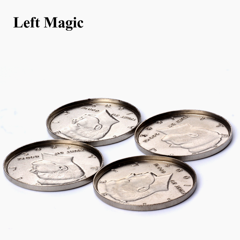 1Pcs Expanded Shell Half Dollar ( Head ) Magic Tricks Appearing Vanish Coin Magie Accessories Close Up Prop Illusion B1021