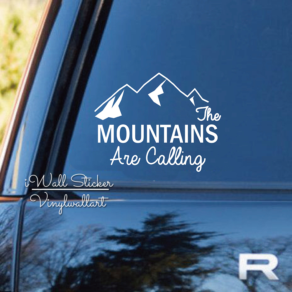 Mountains Are Calling Car Sticker Quotes Car Decal DIY Car Decors Removable Decoration High Quality Cut Vinyl CA8