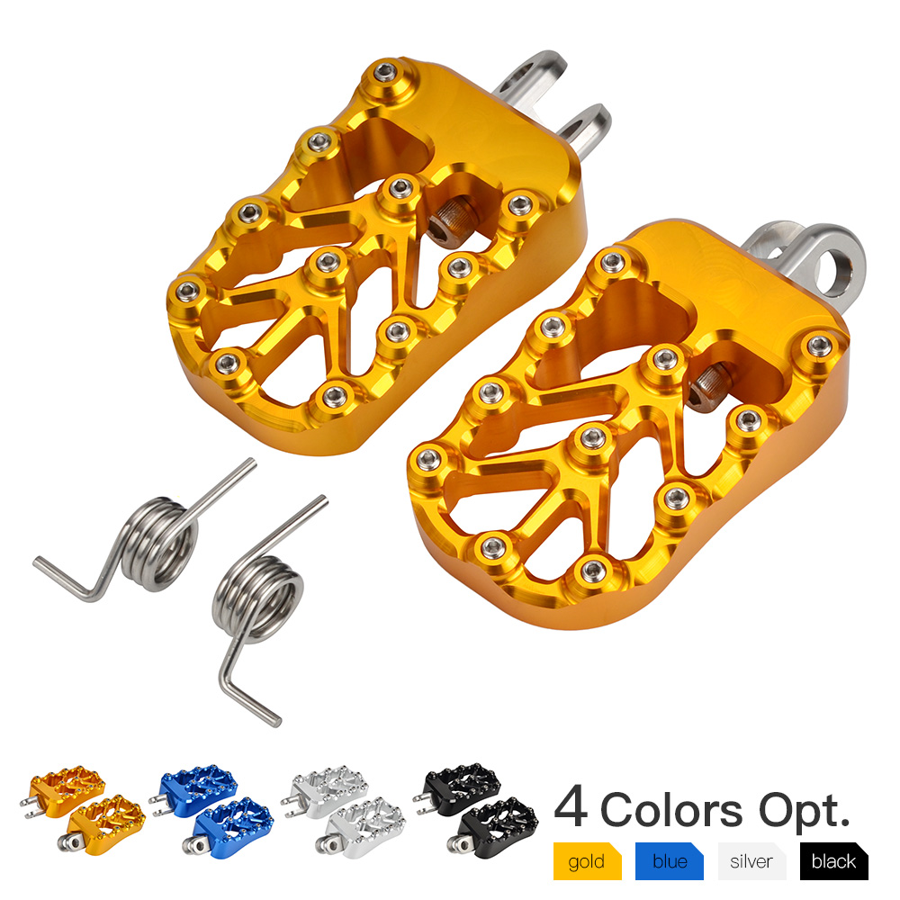 NICECNC Wide Foot Pegs Rest Pedal Footrests Footpeg Mounting Kit For Suzuki DRZ400 DRZ 400 DR