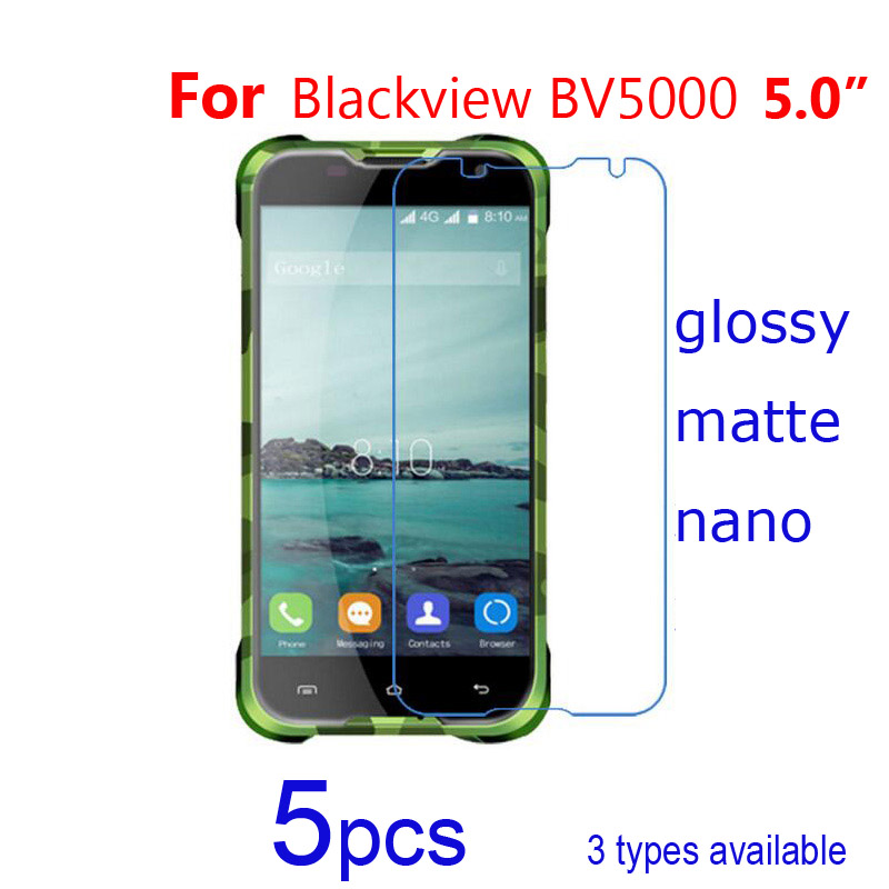 5pcs/lot Soft Protective Films For Blackview A5 A8 Bv5000 Phone Screen Protectors,glossy-clear/matte/nano Explosion Proof Film Cellphones & Telecommunications