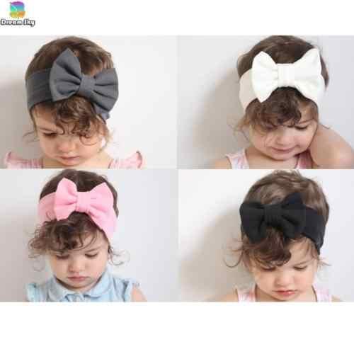 2018 Canis детское платье для малышей, девочек повязка на голову с бантом, лента для волос аксессуары Головные уборы головы Обёрточная бумага, украшение-бант, Женская SS