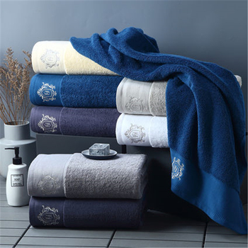 Diamond hotel pure cotton embroidered bath towel adult men and women family children outdoor jacquard bath towel